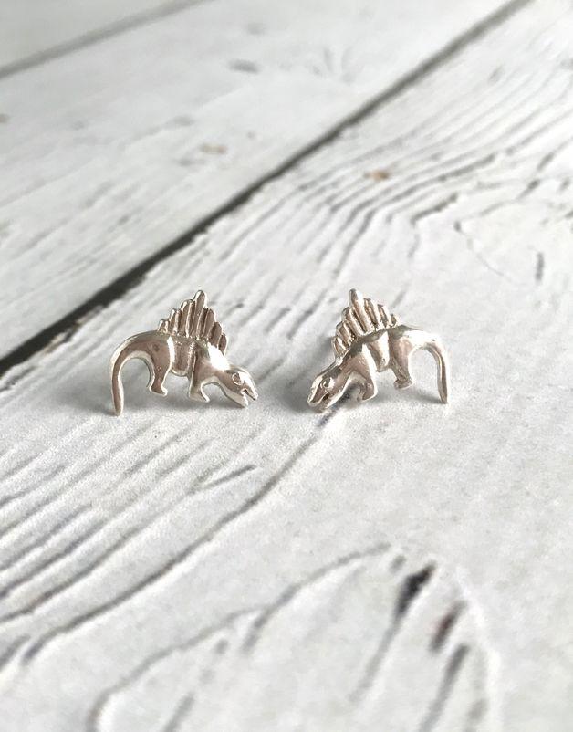 Sterling Silver Dinosaur stud Earrings