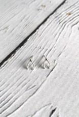 Sterling Silver Wishbone Stud Earrings