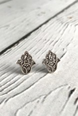 Sterling Silver Hasma Stud Earrings