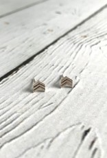 Sterling Silver Chevron Stud Earrings