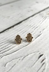 14k Gold-Plated Hasma Stud Earrings