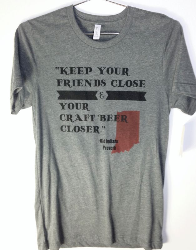 Indiana craft beer tee shirt silver in the city for Craft brewery t shirts