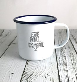 Eye Roll Expert Enamel Mug