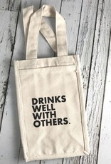 Drinks Well With Others Two Bottle Wine Tote
