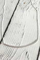 Brushed Stering Silver Row of Dots Necklace