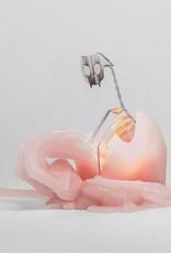 Dusty Pink + Aluminium Kisa Cat Candle