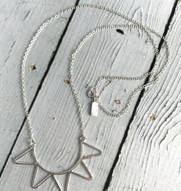 """Sterling Silver """"Ra"""" Necklace - hammered half sun"""