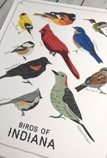 Birds of Indiana Print by On the Cusp
