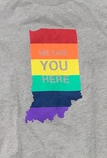 Rainbow WE LIKE YOU HERE T-Shirt