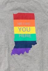 Rainbow WE LIKE YOU HERE T-Shirt