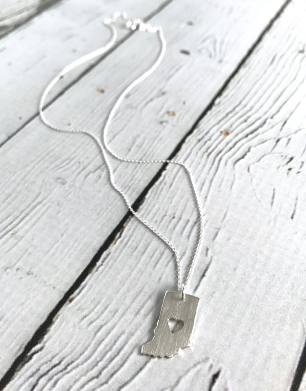Handmade Sterling Silver Indiana with Perfect Heart Cut Out
