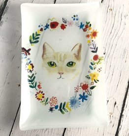 Fancy Floral Cat Plate