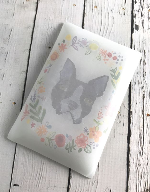 Fancy Floral Dog Plate