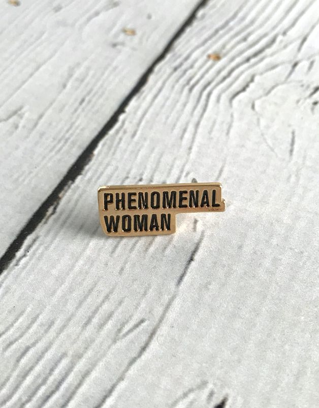 Phenomenal Woman enamel pin