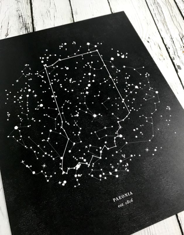 Indiana Constellation 8.5 x 11 Print