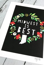 KATEO Midwest is Best 8x10 Print