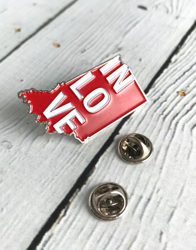 IN Love Enamel Pin