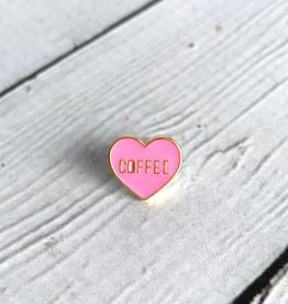 "Caffeine Queen, Heart ""Coffee"" Enamel Pin"