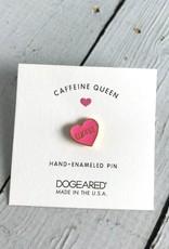 """Caffeine Queen, Heart """"Coffee"""" Enamel Pin"""