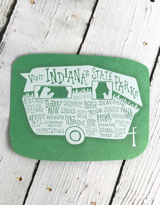 Indiana State Parks Sticker By Sky // Form