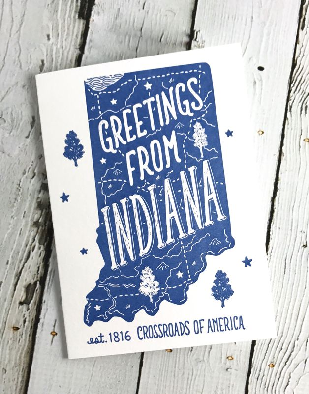 Greeting From Indiana Greeting Card