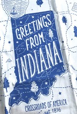Greetings From Indiana Tea Towel