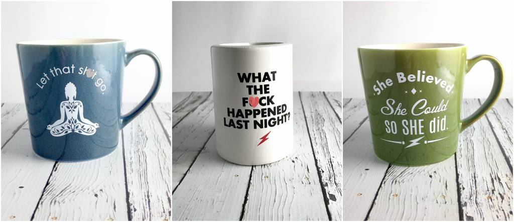 Our Favorite Mugs & Koozies are Back in Stock!