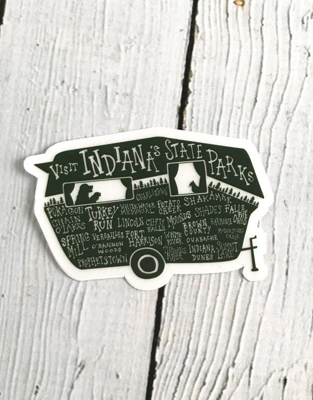 Small Indiana State Park Sticker