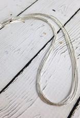 """5 Strand Liquid Silver Necklace: 16"""""""