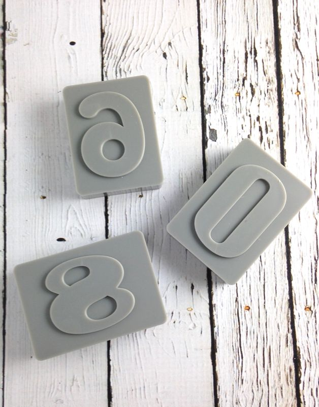 Letter Pressed Numbers Cookie Cutters
