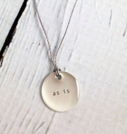 """""""as is"""" Mini Type Necklace on 16"""" Cord"""