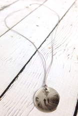 """Sterling Silver Litho """"Morning Ride"""" Necklace"""