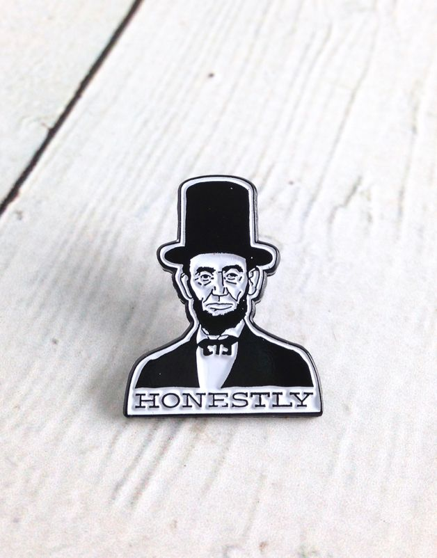 """Honestly"" Enamel Pin"