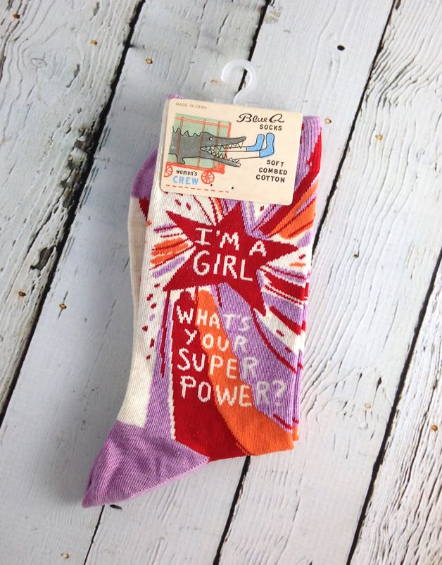 Superpower Women's Crew Socks