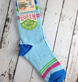 Queen Of Bitch Mountain Woman's Crew Socks