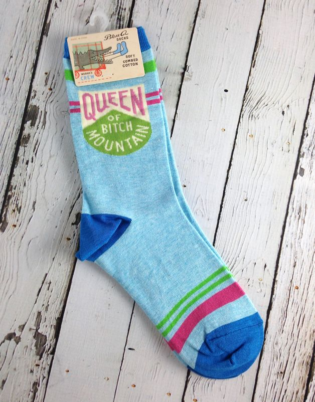 Queen Of Bitch Mountain Woman's Crew Socks