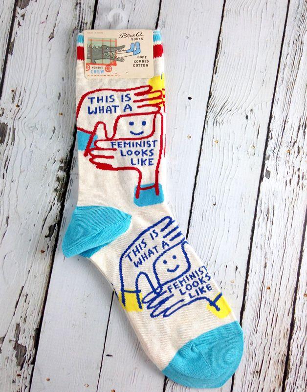 Feminist Looks Like Women's Crew Socks