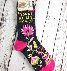 You're Killin' My Vibe Women's Crew Socks