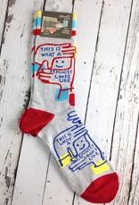 Feminist Looks Like Men's Crew Socks
