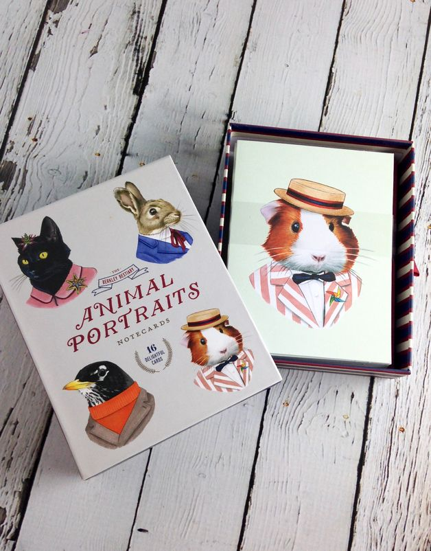 Animal Portraits Notecards