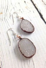 Raw Sparkling Druzy Earrings