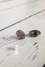 Raw Anthraxilite Stud Earrings