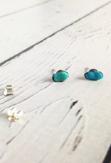 Turquoise Electroformed Stud Earrings
