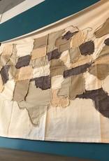 """48""""L Cotton Stitched USA Map"""
