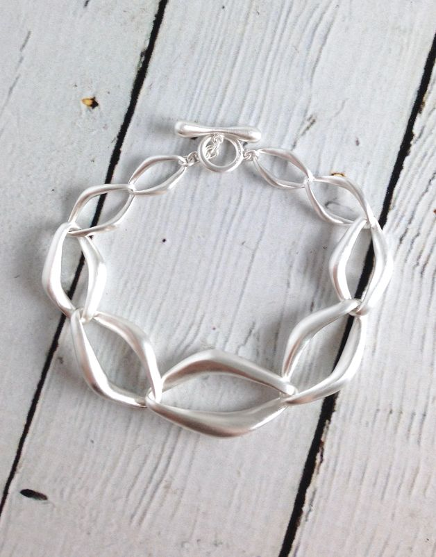 Sterling Silver Pure Collection Matte Bracelet
