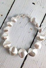 Sterling Silver Pure Collection Matte Twisted Pebble Bracelet