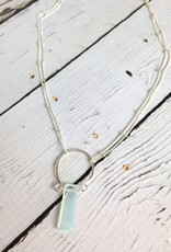 Juliette Necklace with Aqua Chalcedony