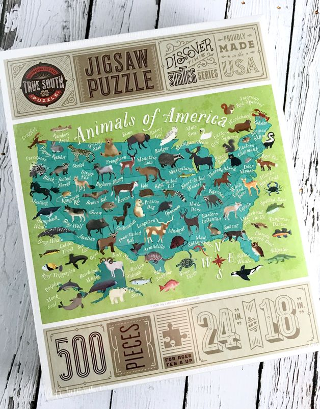 TrueSouthPuzzle Animals of America 500 Piece Puzzle