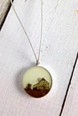 Sterling Chroma Rural Indiana Barn Necklace - Emily Schwank Collection