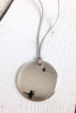 Sterling Litho Kite Flying at Indiana Dunes Necklace - Emily Schwank Collection